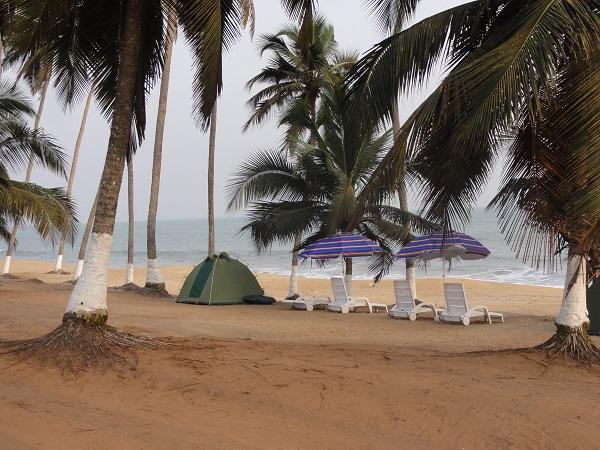 Camping at Brenu Beach